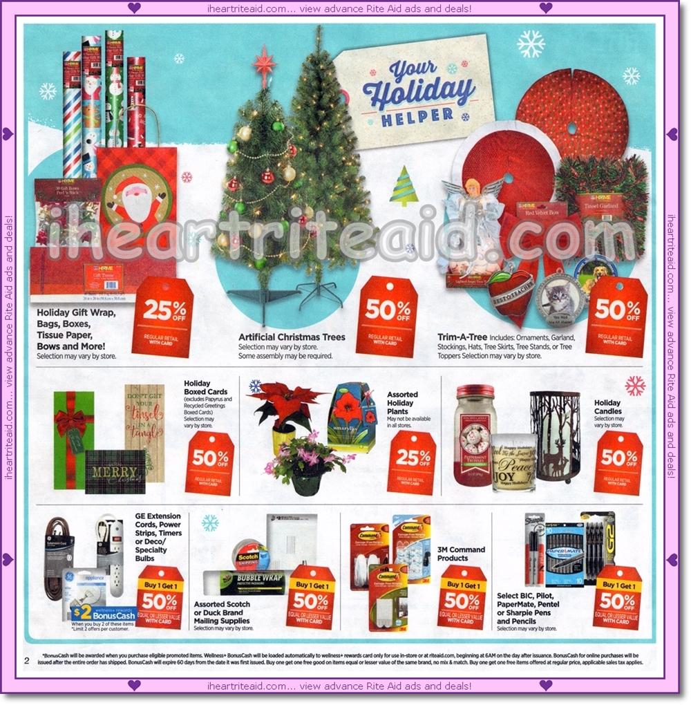 Rite Aid Christmas Hours.I Heart Rite Aid Ad Scans 11 25 12 01