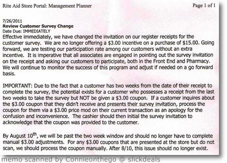i heart rite aid complete receipt surveys online for 315 coupon
