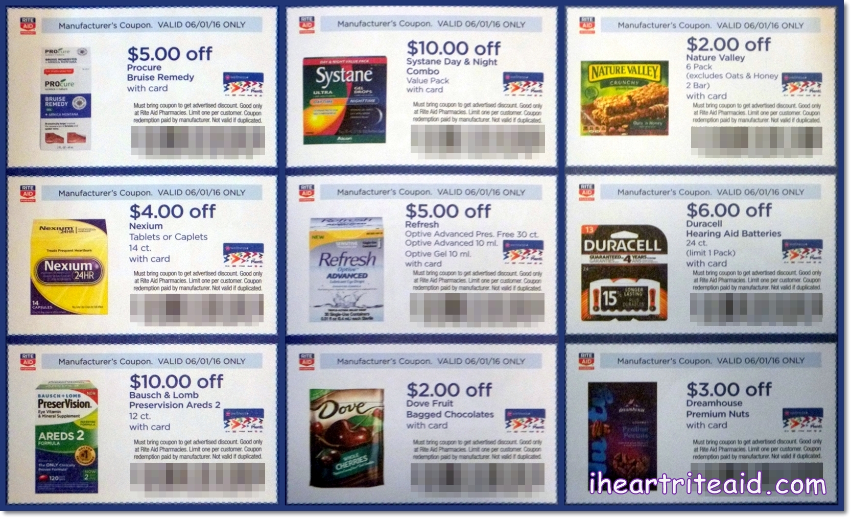 I heart rite aid june wellness wednesday coupons valid for American frame coupon code